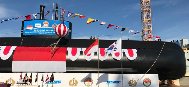 Daewoo Shipbuilding Launches 2nd Submarine for Indonesian Navy